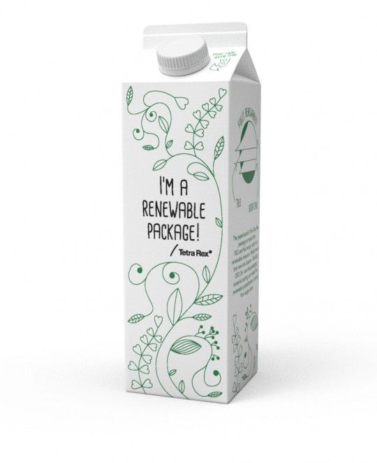 100% plant based beverage carton, by Tetra Pak