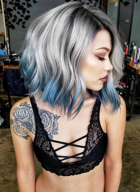 See here the top fall-winter silver metallic hair colors 2017-2018.