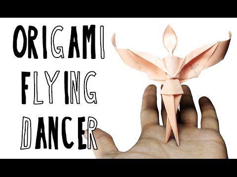 Origami Flying Dancer (Riccardo Foschi) - YouTube