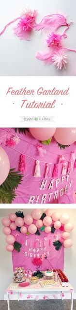 Feather Garland Tutorial | Designs by TiffanyCo