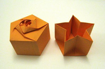 Origami Box 鈥?Pentagon Star Base