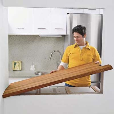 attach the butcher block using screws and kitchen and bath sealant