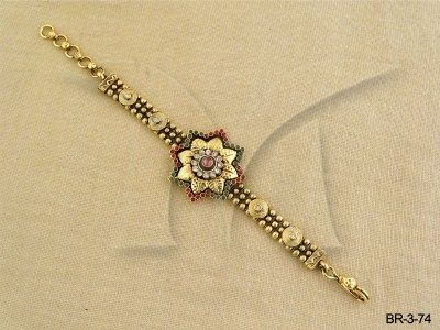 BR-3-74 || Sadafuli Flower Antique Bracelet