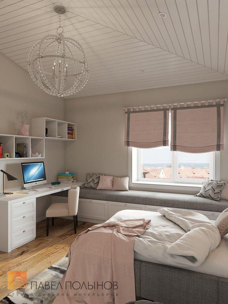 Фото: Интерьер детской комнаты - Интерьер загородного дома в стиле американской неоклассики, п. Токсово, 215 кв.м.