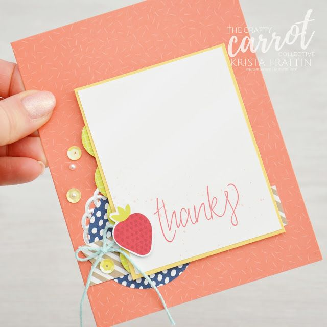 All Things Thanks Stamp Set & Tutti-Frutti Designer Paper from Stampin' Up! | Stampin' Dolce