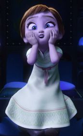 Anna face when Elsa's building Olaf...so yeah...