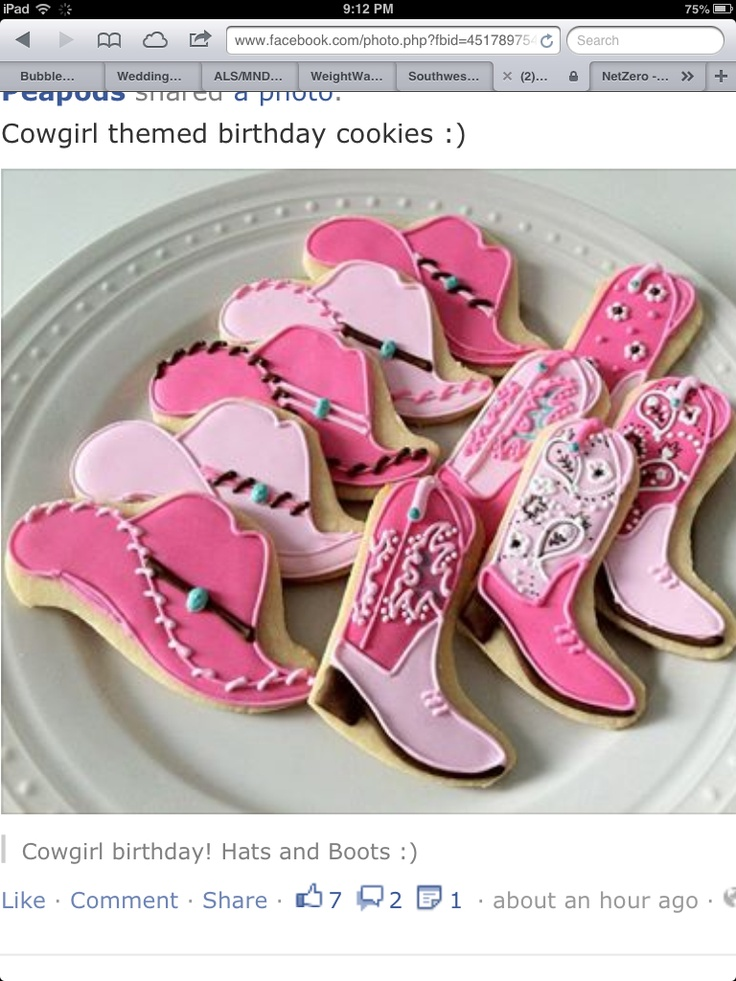 Cowgirl cookies  For Jess S-R