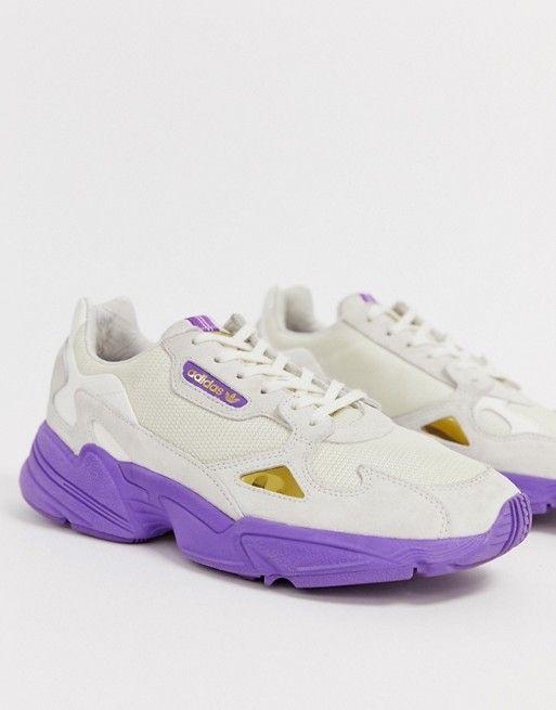 9c2175fec89 adidas Originals TFL Falcon in off white and purple in 2019 | Shoes ...