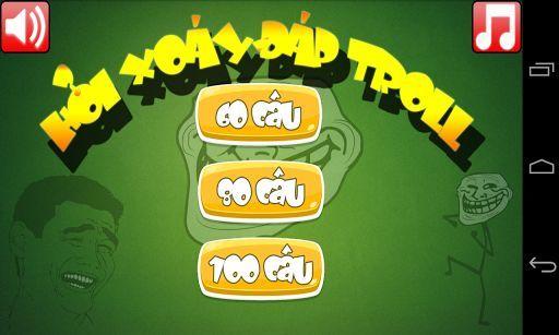"""""""Fap Troll - Thánh Troll"""" là một game trí tuệ vui nhộn không đòi hỏi bạn phải có kiến thức thật uyên thâm trong các lĩnh vực. Với những câu hỏi có một không hai, độc đáo nhưng không hề Bố láo đang chờ các bạn.<p>Bạn là một thanh niên nghiêm túc? Và vô cùng nguy hiểm. Chưa chắc đâu. Nếu không tin, hãy đến với """"Fap Troll - Thánh Troll"""" và suy nghĩ lại đi :))<p>Hãy đến với """"Fap Troll - Thánh Troll"""" để tất cả cùng cười sảng khoái sau những giờ phút căng thẳng!<p>Note: Game có cách chơi đơn giản…"""