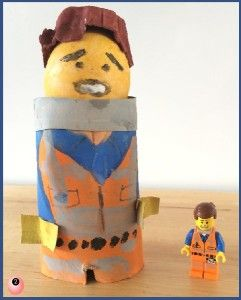 Lego Egg Decorating – Eggett (Emmett) and Superman #MotivationalMonday