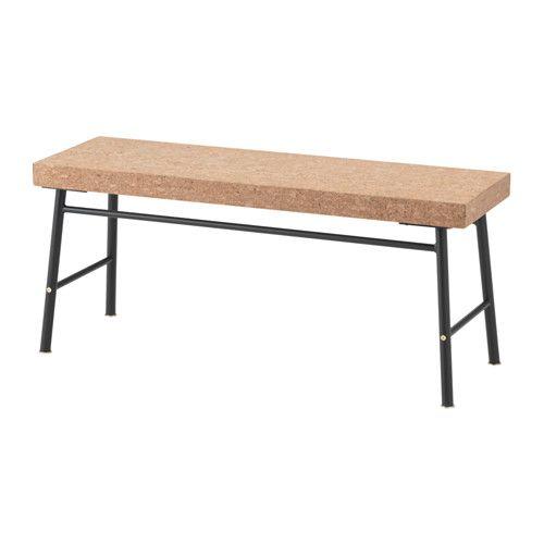 SINNERLIG Bank IKEA Kork ist ein weiches Material, das Wasser und Schmutz abweist und geräuschdämmend wirkt.