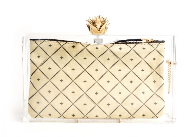 Transparent clutch - Charlotte Olympia