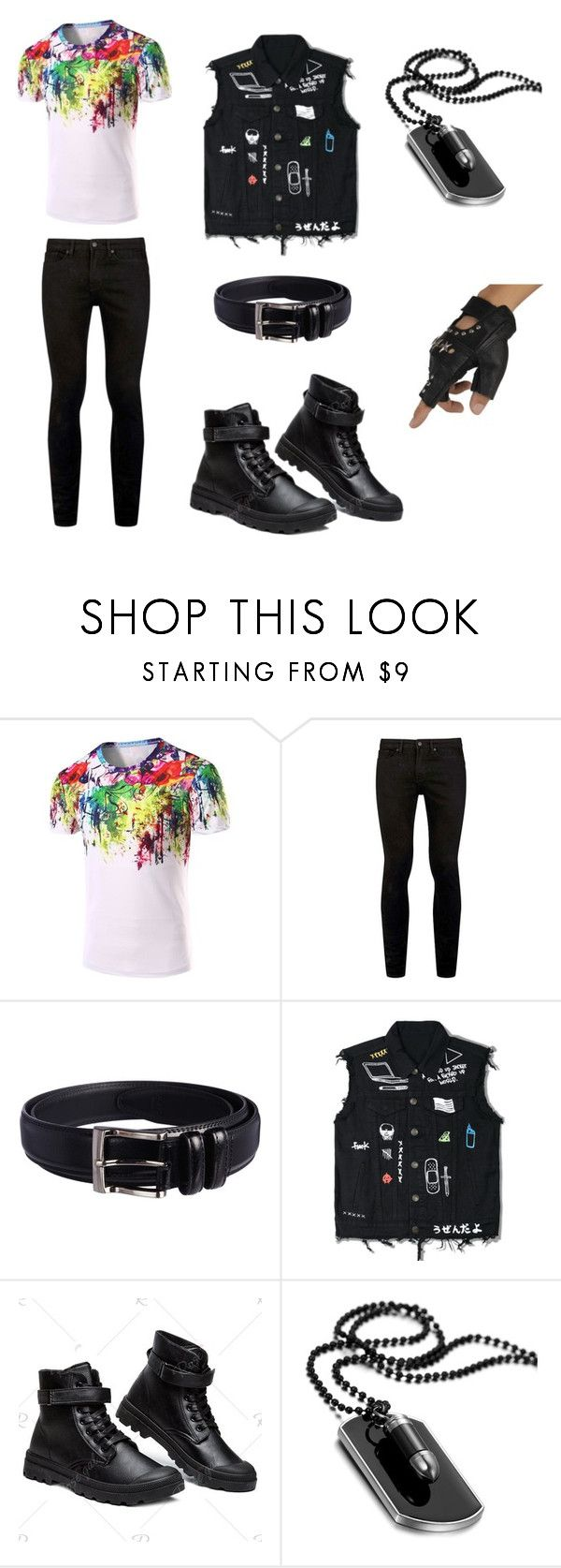 """""""Untitled #107"""" by ziadvil on Polyvore featuring Topman, Florsheim, men's fashion and menswear"""