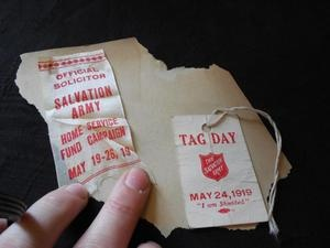 Vintage May 19 26 1919 Salvation Army Home Service Fund Campaign Ribbon Tag   eBay