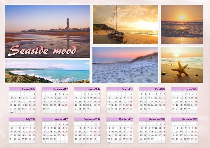 Combine picturesque photos in a calendar made with http://photo-calendar-software.com, and let it catch the spirit of seaside! #Calendar2017 #PhotoCalendarCreator
