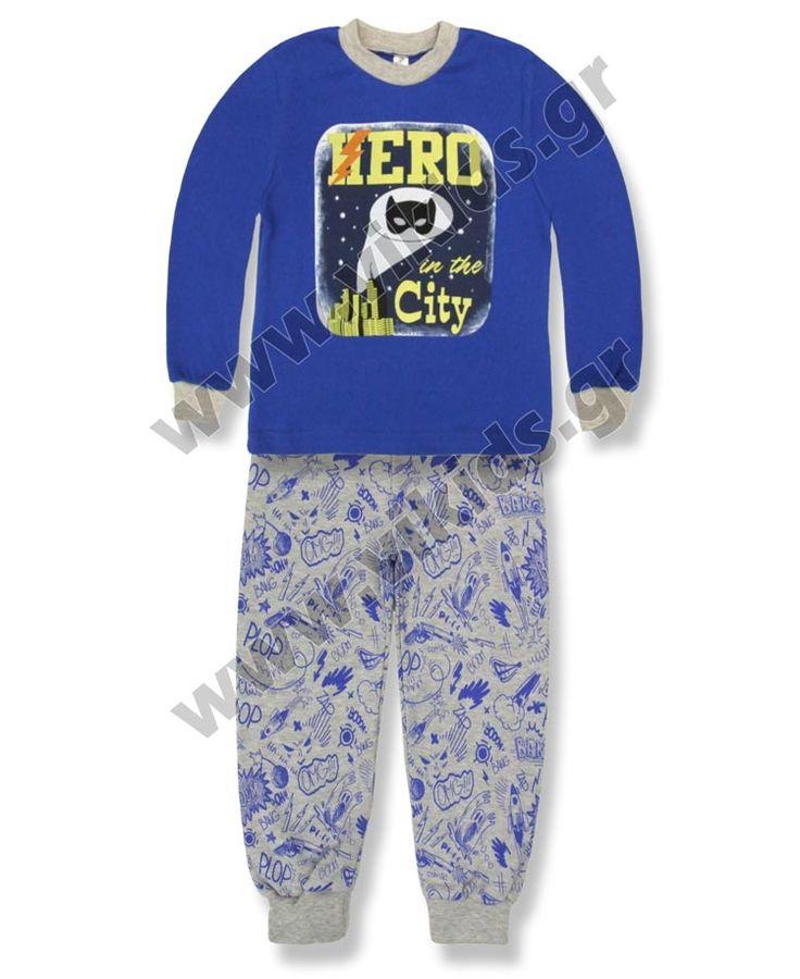 """ΣΕΤ πυτζάμες """"HERO"""". Για αγόρια, σε μεγέθη 0-5."""