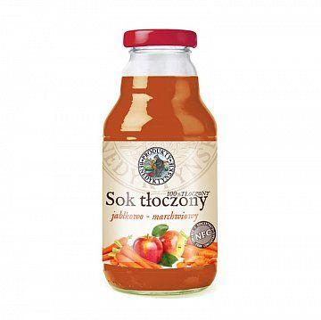 Sok tłoczony jabłkowo - marchwiowy - Produkty Benedyktyńskie    Sok tłoczony jabłkowo - marchwiowy, wytwarzany jest w tradycyjny sposób ze świeżych owoców i warzyw, metodą tłoczenia na zimno, co pozwala na zachowanie zdrowotnych...