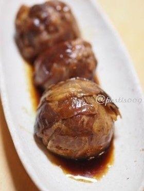 電子レンジで♪玉ねぎの丸ごと肉巻き甘辛煮 by pastis009 ...