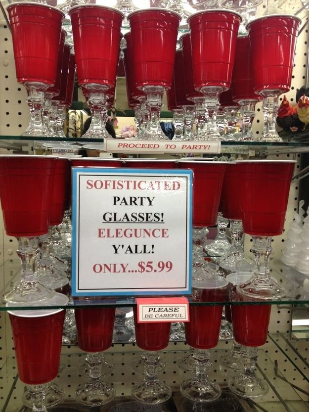 Classy party glasses. Proceed to party!