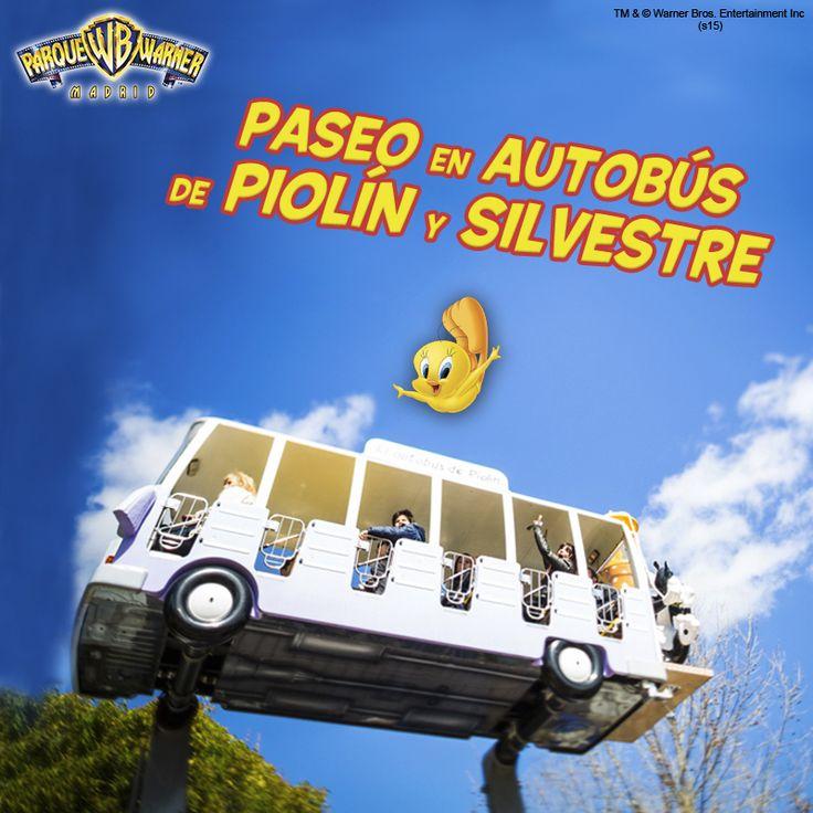 Viaja con #Piolín y #Silvestre en un autobús con forma de noria y disfruta de un original recorrido con toda lafamilia. ¿Quién se anima a acompañar a la Abuelita en este divertido viaje?