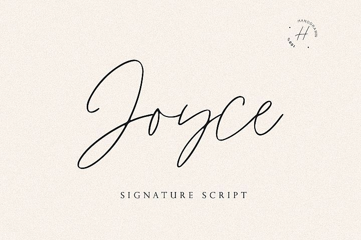Handwriting font for thought making