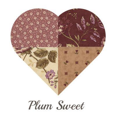 Yosonline Quiltstoffen / Quilt Fabrics - Plum Sweet