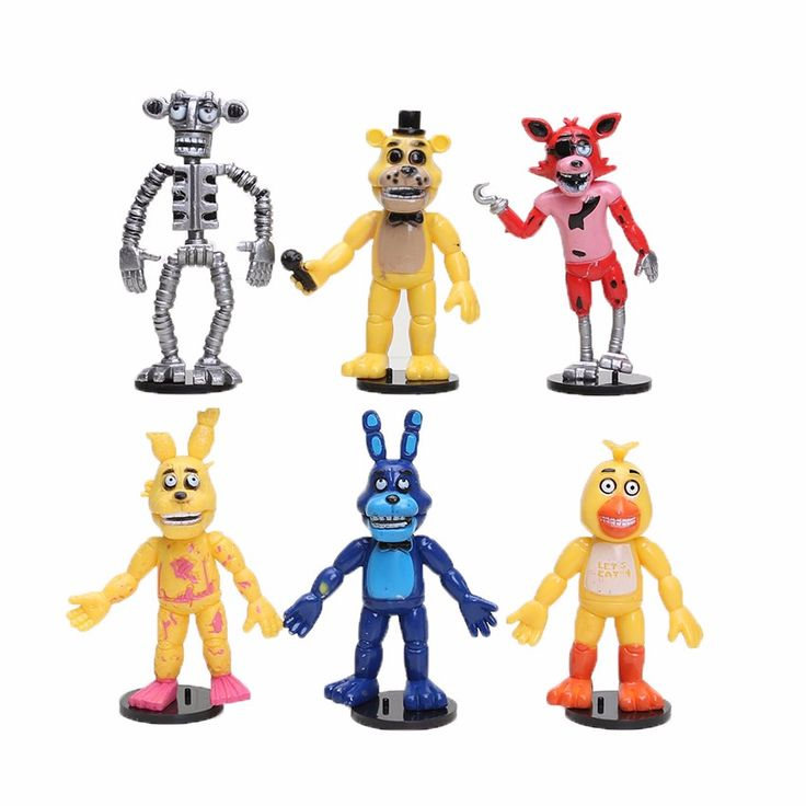 6pcs/lot FNAF Five Nights At Freddy's figure Chica Bonnie Foxy Freddy Fazbear PVC Action Figures Toy 9cm. Click visit to buy