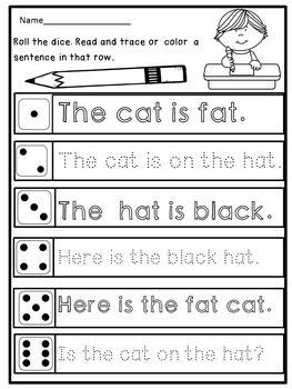 kindergarten handwriting practice sentences primary with tieplay educational resources llc. Black Bedroom Furniture Sets. Home Design Ideas