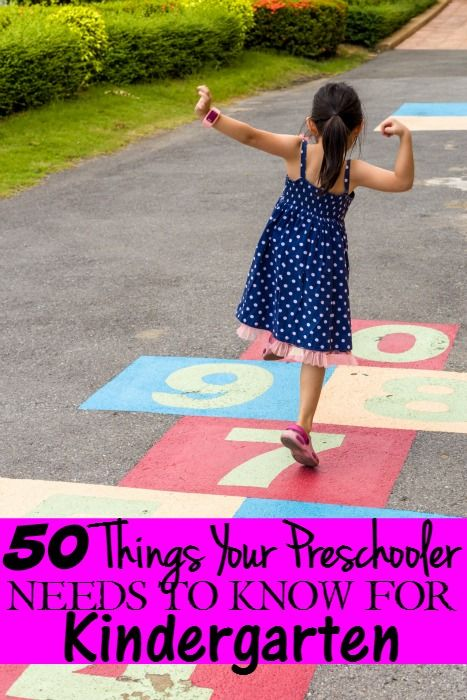 The 50 Things Your Preschooler Needs to Know for Kindergarten - Getting your child ready for Kindergarten can be stressful. Cut down that stress with this list to get them ready!