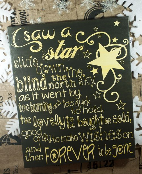 Shooting Star - Canvas size 18x24