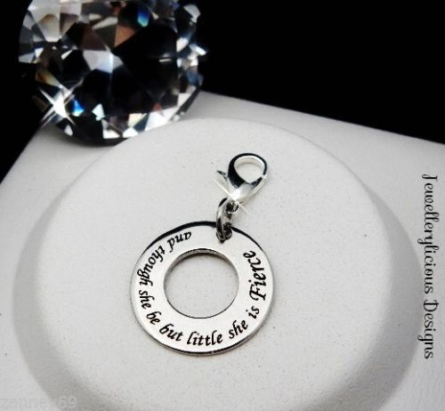 Beautiful-And-Though-She-Be-But-Little-She-Is-Fierce-Quote-Clip-On-Charm-Pendant