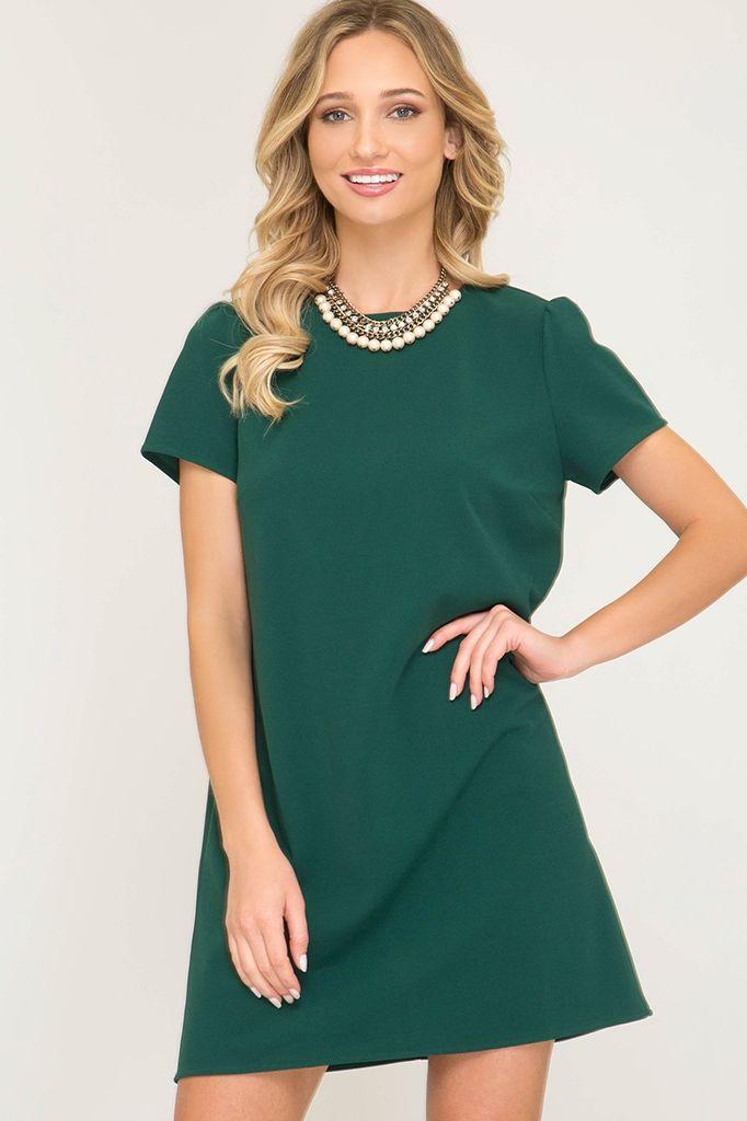 9ecabd69 Pin by Jasmine Gibbs on Janine LaRose | Dresses, Short sleeves, Green shorts