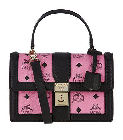 mcm worldwide Small Tracy Satchel Pink by: MCM @Harrods