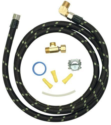 Whirlpool 4396897RP Industrial Dishwasher Installation Kit by Whirlpool. $22.82. From the Manufacturer                This 6-Feet nylon braided, industrial grade dishwasher hose fits most dishwashers and includes a 3/8-Inch compression fitting and elbow. Hose is better than stainless and will not conduct electricity like stainless steel.                                    Product Description                Whirlpool Part Number 4396897RP: Kit, Installation (Includes 6 Ft...
