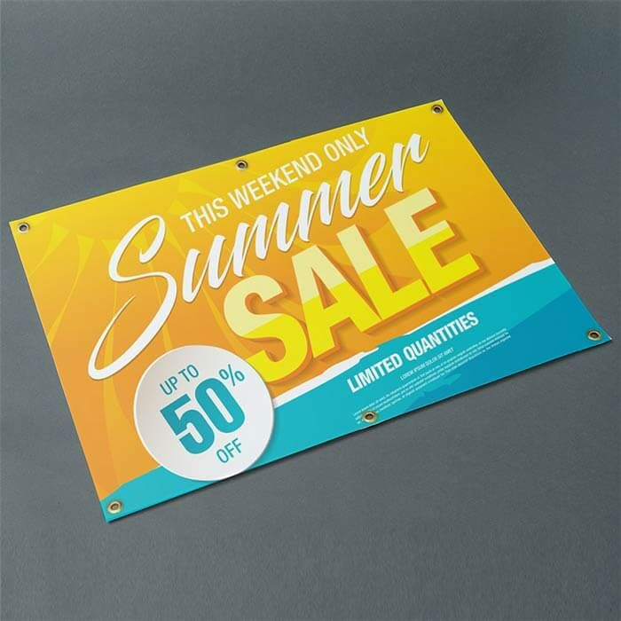 EXIT BANNER WATERPROOF EYELETTED PVC PRINTED ADVERTISING BUSINESS SIGNS