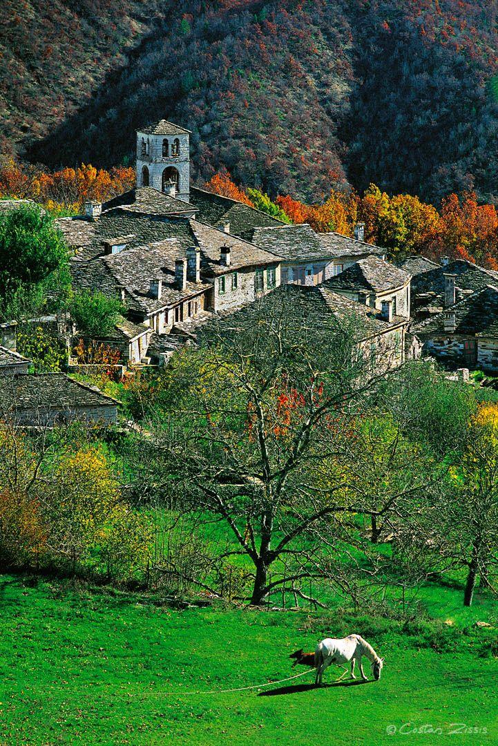 autumn in Dilofo, Zagoria, Epirus, Greece