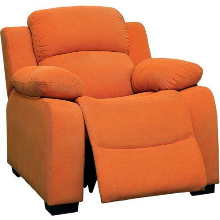 Taylor Kids Recliner Chair in Pink, Orange