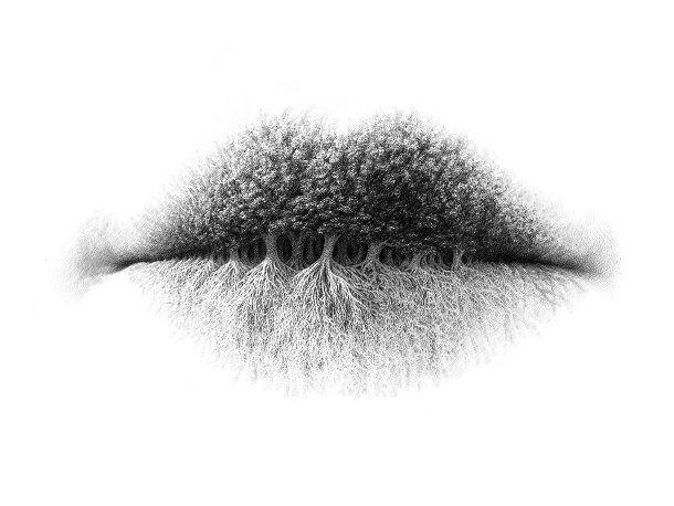 surrealistische-potlood-tekeningen-lippen-2