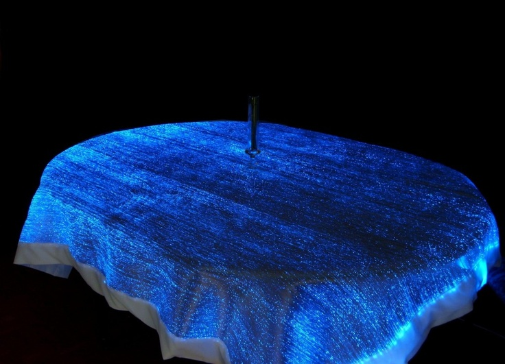 Black Fiber Optic Table Decorations