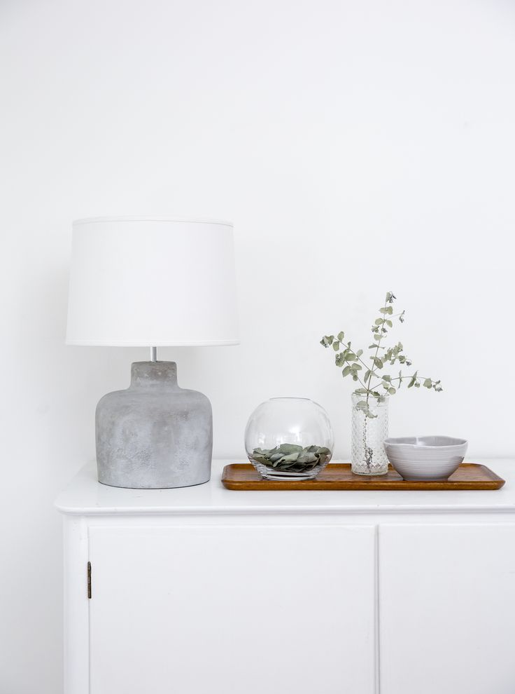 Betoni Lampstand | Betoni (Concrete) lamp stand adds attitude to your interior decoration. It goes well with Pentik's Deco shade, for instance.