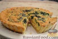 Фото к рецепту: Пирог со шпинатом