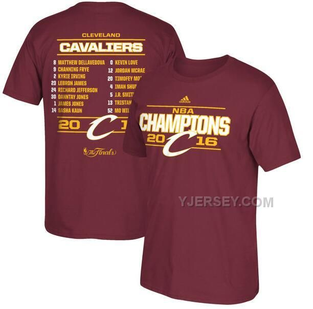 http://www.yjersey.com/mens-cleveland-cavaliers-adidas-burgundy-2016-nba-finals-champions-roster-tshirt.html Only$27.00 MEN'S CLEVELAND #CAVALIERS ADIDAS BURGUNDY 2016 #NBA FINALS CHAMPIONS ROSTER T-SHIRT Free Shipping!