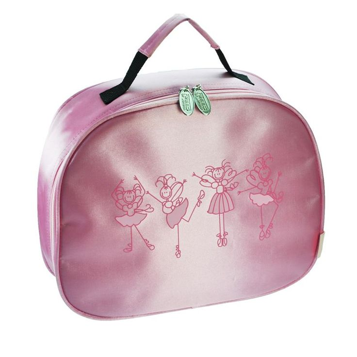 Freed of London Bella. Girls Dance bag. Soft Zip Vanity Case, Interior Mirror, Satin Finish. Fabric : 100% Polyester    Size : 32 x 27 x 9 CM    Colours : Pink, Purple. www.dancinginthestreet.com