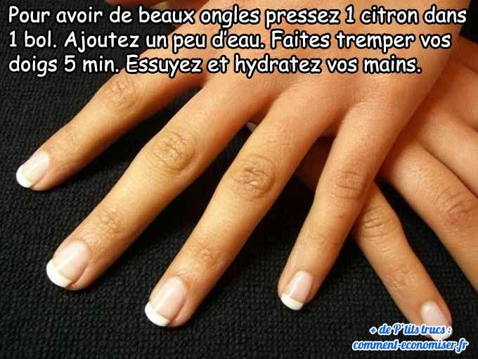 Avoir de jolies mains soignées nécessite d'avoir de beaux ongles blancs. Voici ma petite recette beauté toute simple.  Découvrez l'astuce ici : http://www.comment-economiser.fr/beaux-ongles-naturels.html?utm_content=buffer10846&utm_medium=social&utm_source=pinterest.com&utm_campaign=buffer