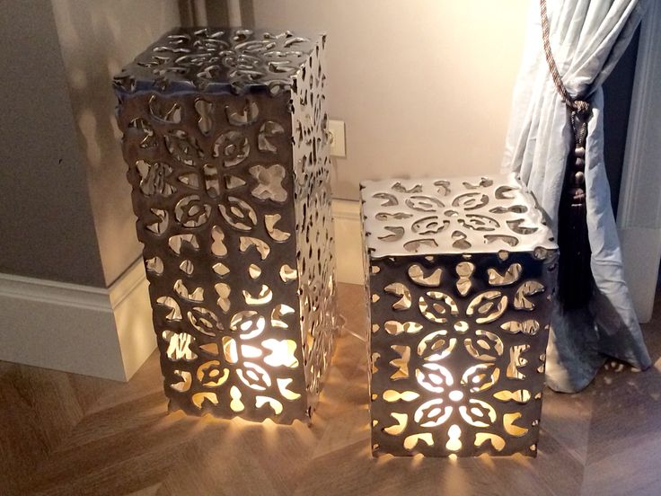 Metal laser cut light