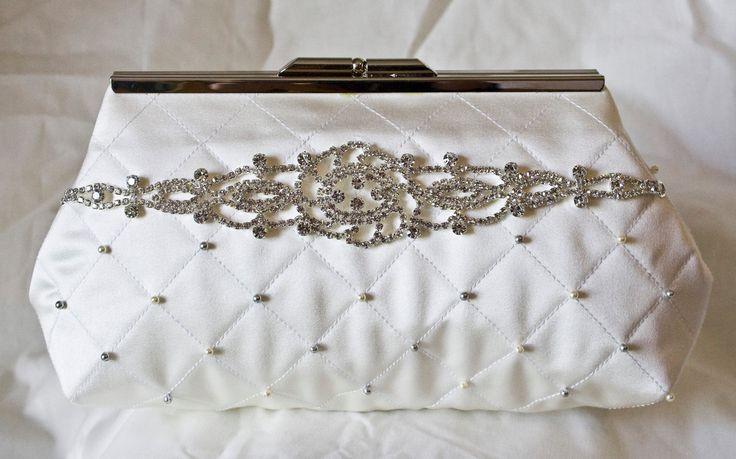 Wedding Day Clutch Bag / Purse - bridal - bride - bridesmaid - handmade clutch…