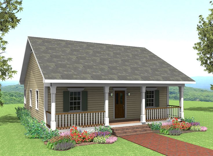 Tiny Home Designs: Plan 2561DH: Cute Country Cottage In 2019
