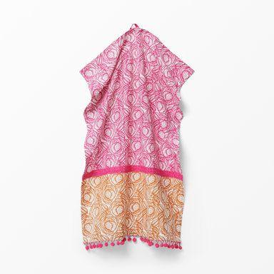 Kökshandduk Pom-Pom, 50x70 cm, rosa