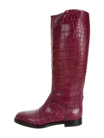 Gucci Alligator Boots