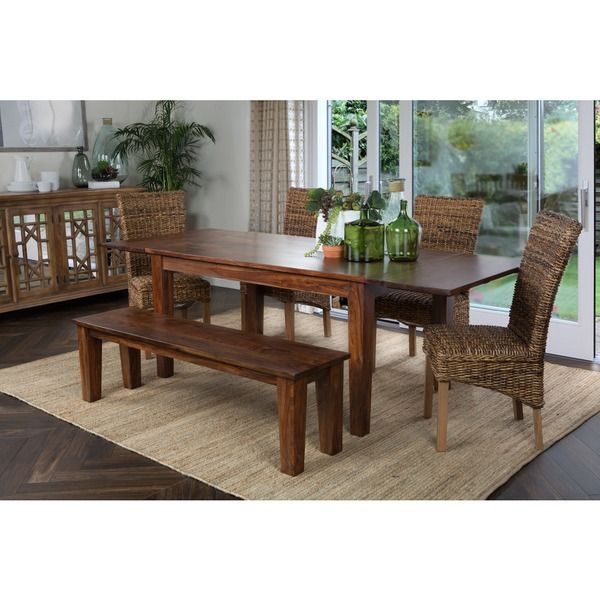 Alicia Wood 92 Inch Extending Dining Table By Kosas Home